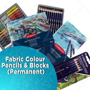 Fabric Colour Pencils & Blocks ( Permanent)
