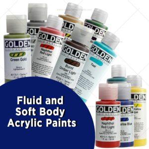 Fluid and Soft Body Acrylic Paints