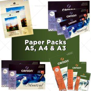 Paper Packs A5, A4 & A3